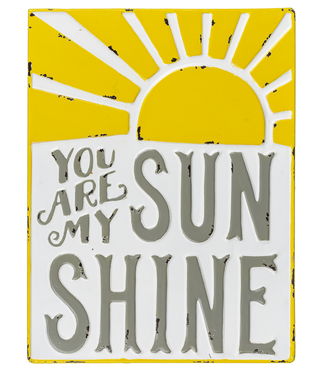 "GIFTCRAFT ""YOU ARE MY SUNSHINE"" METAL WALL DECOR"