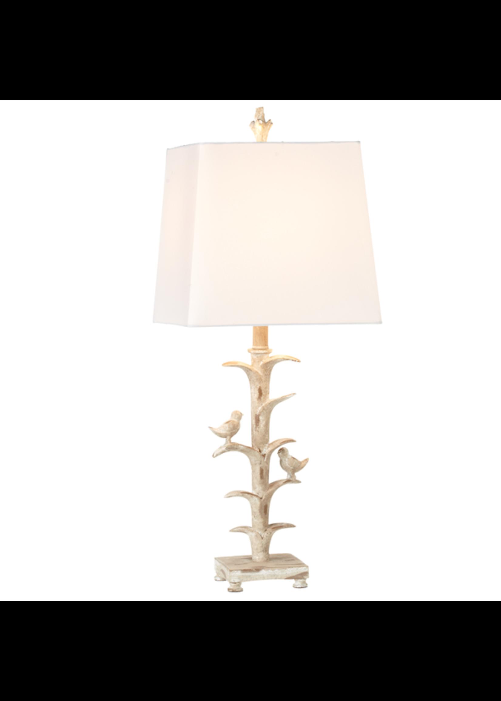 GANZ TABLE LAMP IVORY BIRD BRANCH
