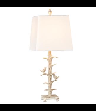 GANZ 161143 IVORY BIRD BRANCH TABLE LAMP