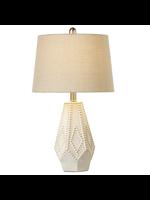 GANZ WHITE DOT DIAMOND TABLE LAMP