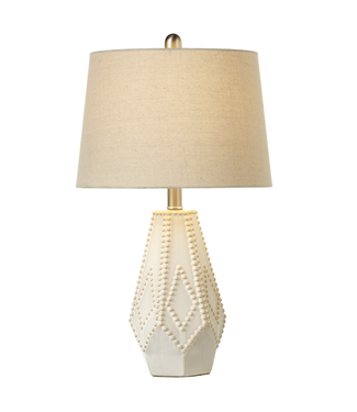 GANZ 152160 WHITE DOT DIAMOND TABLE LAMP