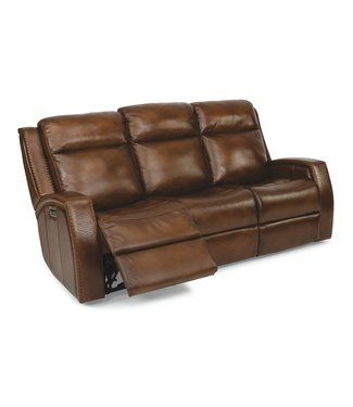 FLEXSTEEL 1873-62PH-729-70 SOFA POWER RECLINE PWR HD, MUSTANG LEATHER