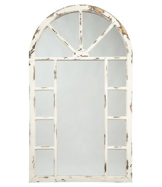 ASHLEY A8010069 ACCENT MIRROR DIVAKAR DISTRESSED WHITE