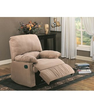 COASTER 600264 RECLINER TAN  MICROFIBER