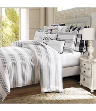 HIEND ACCENTS KING COMFORTER SET 3PC BLACKBERRY