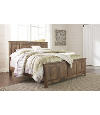 ASHLEY B224-56/58/95 6/6 PANEL BED BLANEVILLE BROWN KING
