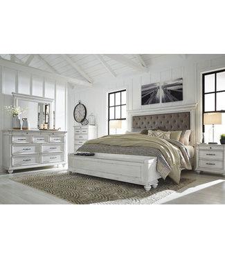 ASHLEY B777-56S/97/158 6/6 BED UPH HB STORAGE FB