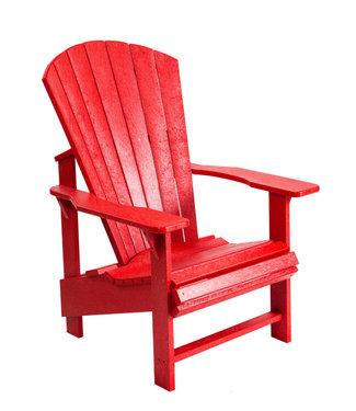 C.R. PLASTICS UPRIGHT ADIRONDACK CHAIR RED