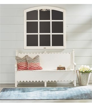 MAGNOLIA HOMES BENCH SCALLOP JO'S WHITE