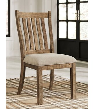 ASHLEY D754-05 SIDE CHAIR GRINDLEBURG BROWN