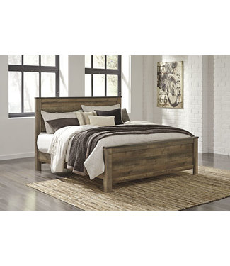 ASHLEY B446-56/58/97 6/6 PANEL BED TRINELL BROWN