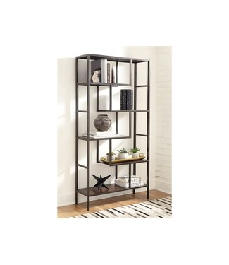 ASHLEY A4000021 BOOKCASE FRANKWELL BROWN/BLACK