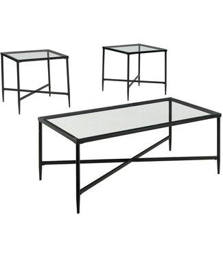 ASHLEY OCCASIONAL TABLE 3 PIECE SET AUGERON BLACK