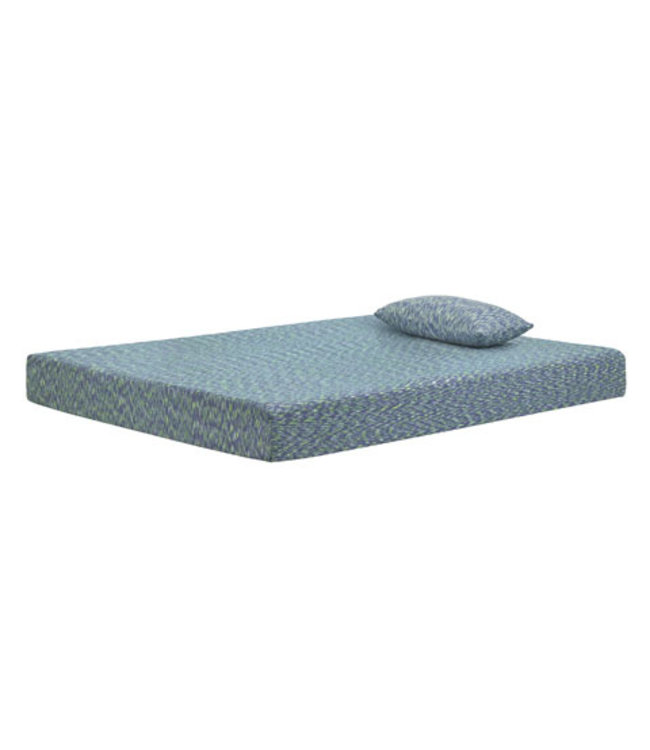 ASHLEY BEDDING FULL MATTRESS & PILLOW I-KIDZ BLUE 2020 COVER