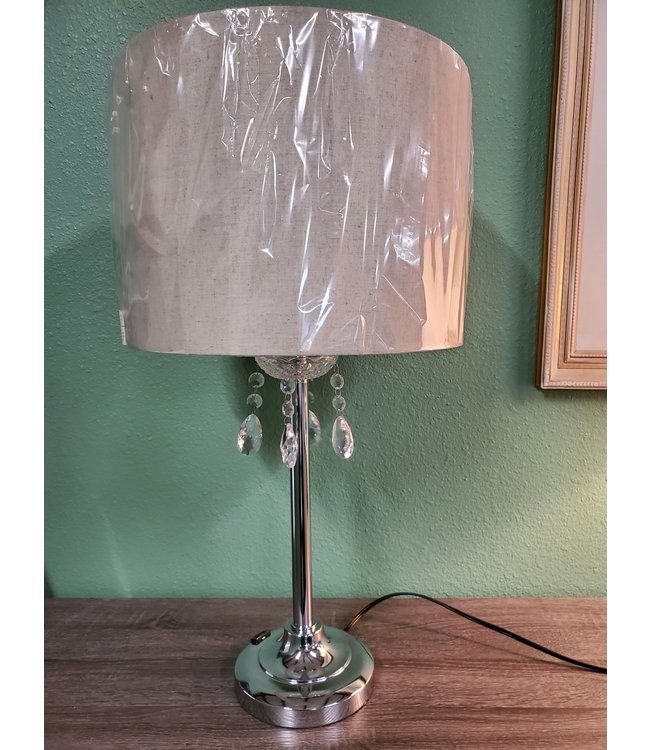CROWNMARK TABLE LAMP CRYSTAL DECOR