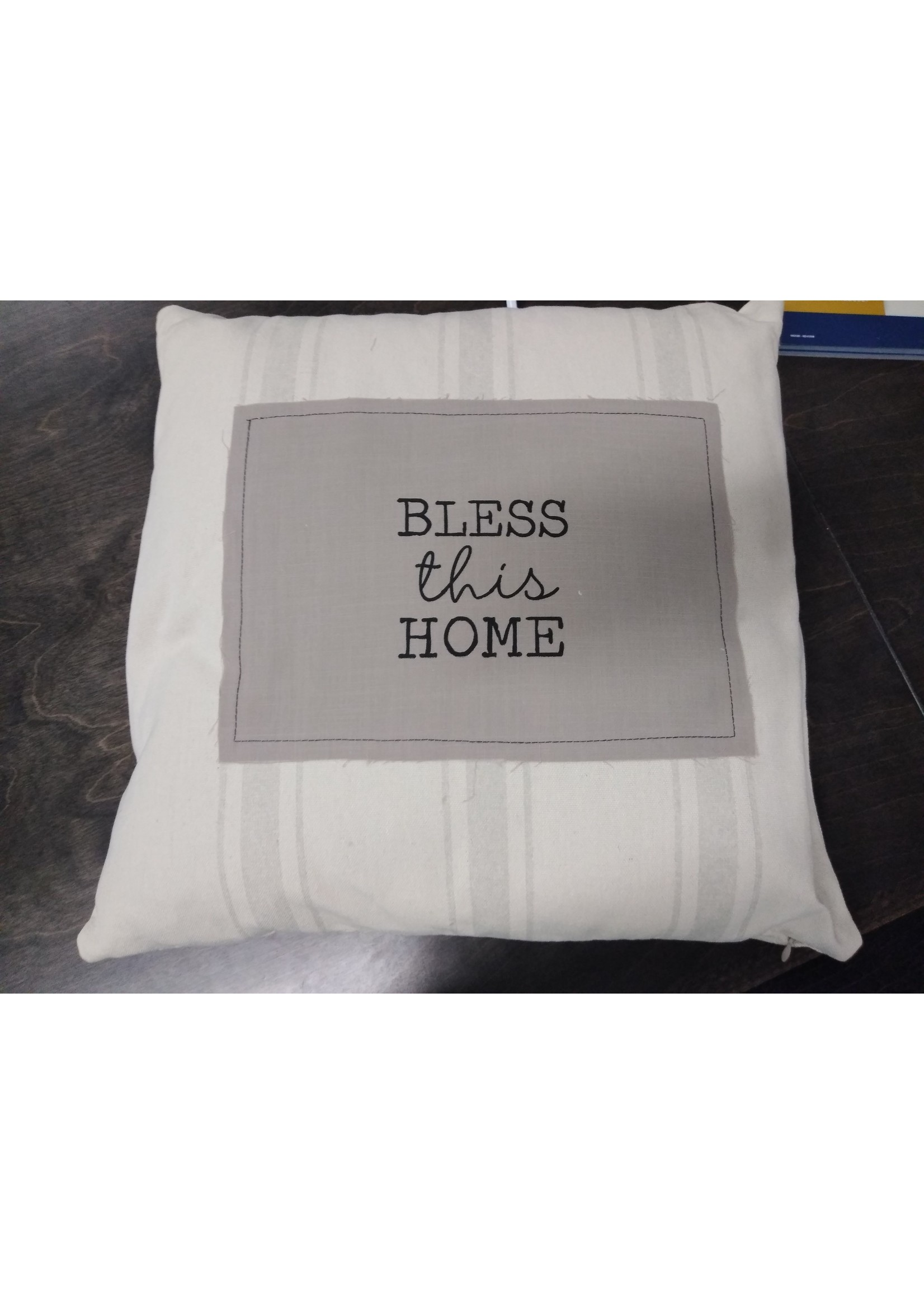 """GANZ ER50653 17"""" SQUARE BLESS THIS HOME PILLOW"""