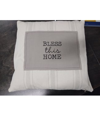 "GANZ 17"" SQUARE BLESS THIS HOME PILLOW"