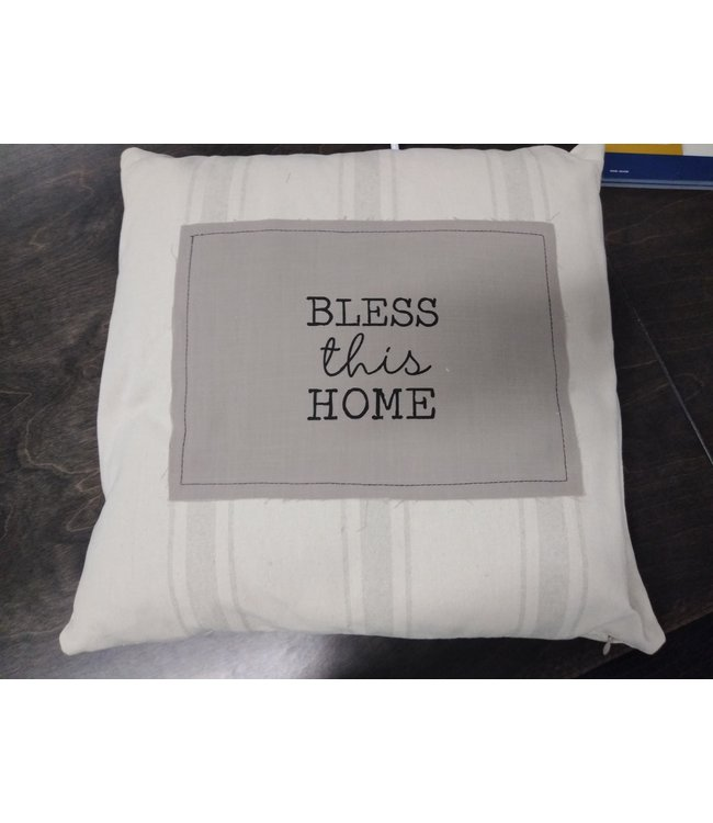 "GANZ ER50653 17"" SQUARE BLESS THIS HOME PILLOW"