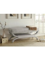 COASTER UPHOLSTERED BENCH CAMILLE CREAM