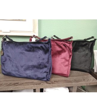 SIMPLY NOELLE HB-4111 HOBO BAG VELVET Assorted colors