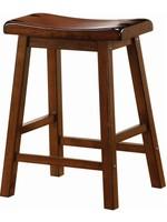 COASTER SADDLE SEAT STOOL  CHESTNUT BROWN