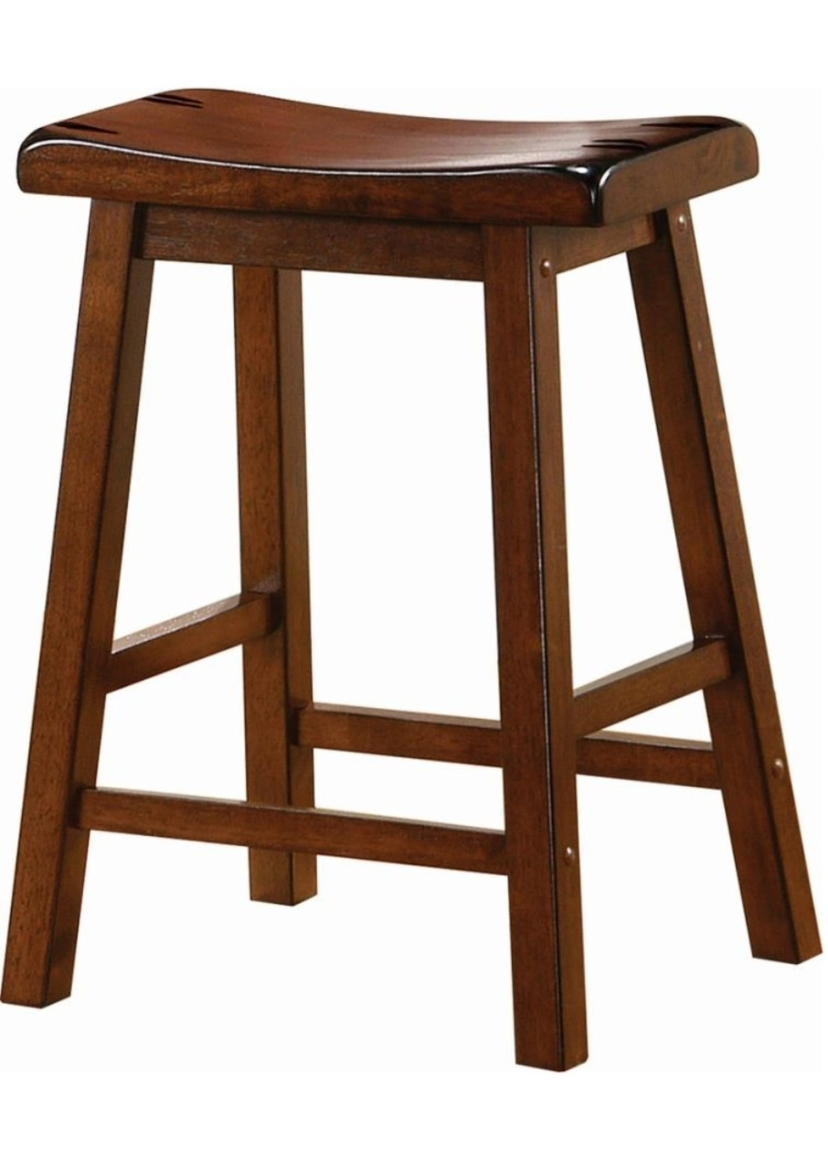 "COASTER 180069 STOOL 24"" SADDLE SEAT CHESTNUT BROWN"