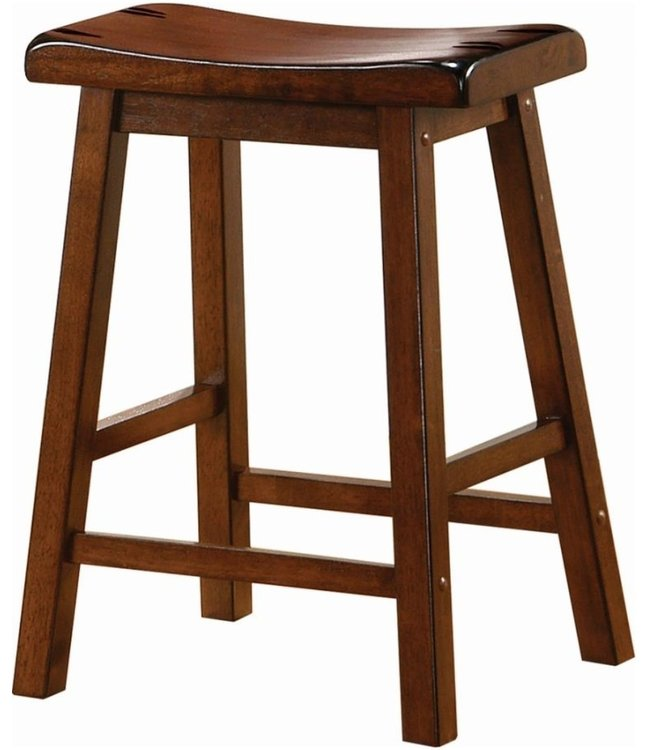 COASTER SADDLE SEAT STOOL  CHESTNUT BROWN