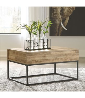 ASHLEY T150-9 LIFT TOP COCKTAIL TABLE GERDANET NATURAL