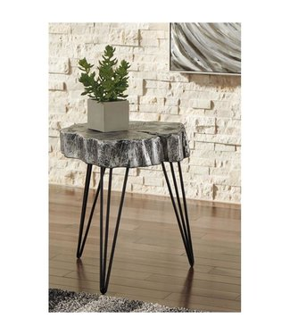 ASHLEY A4000074 ACCENT TABLE DELLMAN ANTIQUE SILVER
