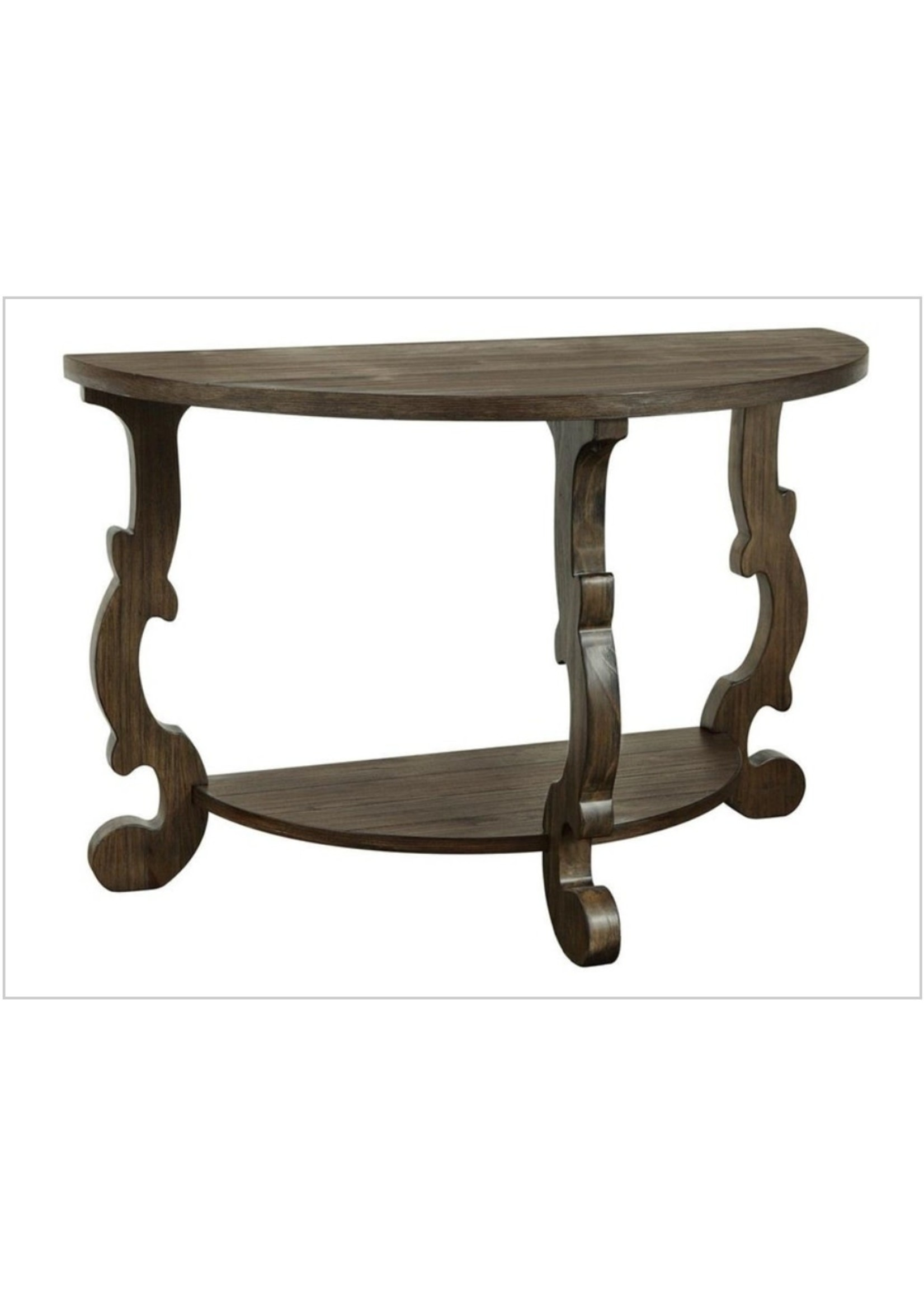 COAST TO COAST 30429 CONSOLE TABLE DEMILUNE BROWN