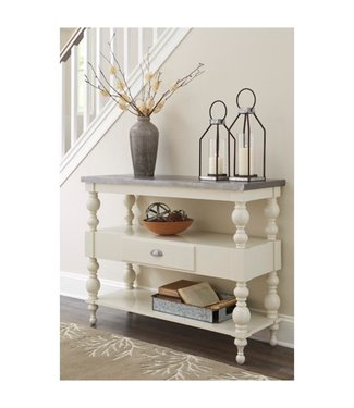 ASHLEY ACCENT CONSOLE TABLE FOSSIL