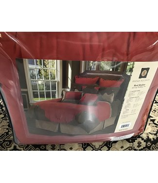 HIEND ACCENTS COMFORTER SET RED RODEO
