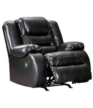 ASHLEY ROCKER RECLINER VACHERIE BLACK