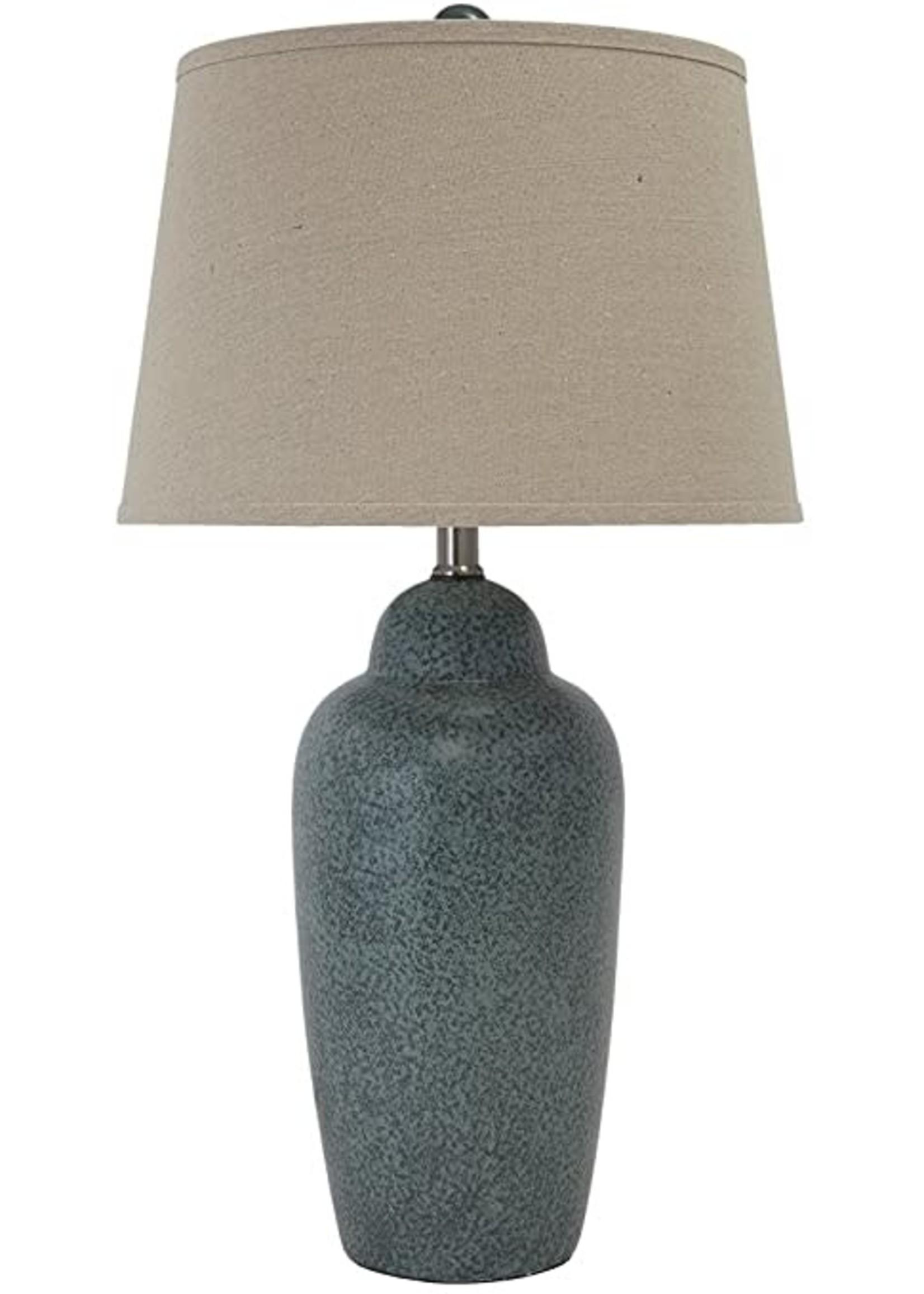 ASHLEY TABLE LAMP CERAMIC SAHER GREEN