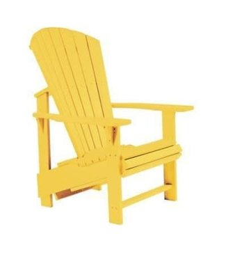 C.R. PLASTICS UPRIGHT ADIRONDACK CHAIR YELLOW