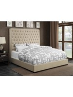 COASTER QUEEN BED CAMILLE UPHOLSTERED CREAM