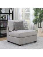COASTER CAMBRIA UPHOLSTERED ARMLESS CHAIR GREY