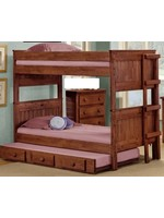 PINE CRAFTER TWIN/TWIN STACKABLE BUNK BED MAHOGANY