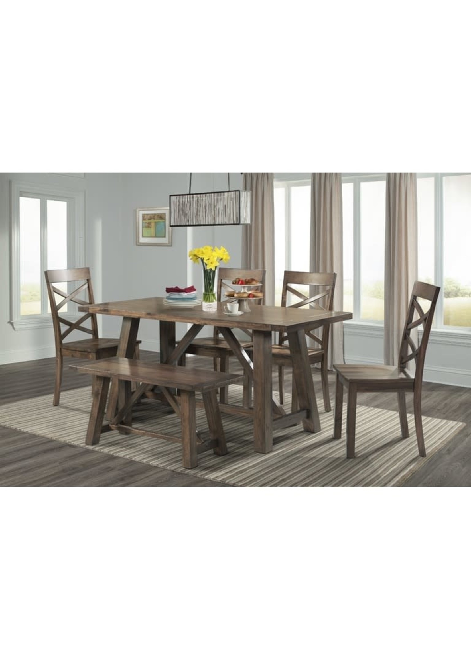 ELEMENTS DRN1006CS 6 PC COUNTER DINING SET RENEGADE CHERRY