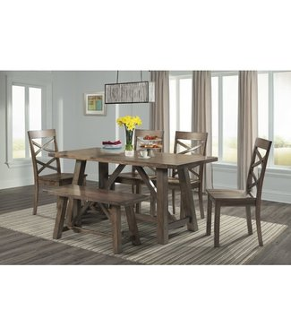 ELEMENTS RENEGADE 6 PIECE DINING SET COUNTER HEIGHT CHERRY