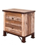 IFD ANTIQUE MULTI COLOR NIGHTSTAND