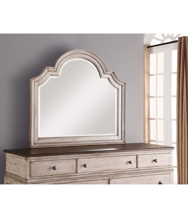 FLEXSTEEL PLYMOUTH MIRROR IN WHITEWASH-GRAY