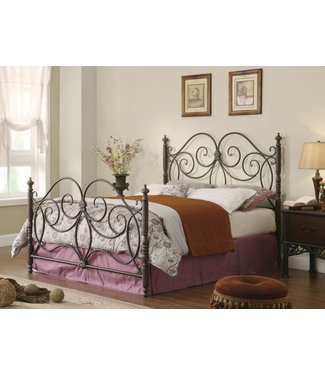 COASTER LONDON  METAL KING SIZE BED