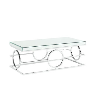 ELEMENTS PEARL GLASS/METAL COFFEE TABLE