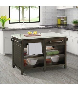 ELEMENTS VERONA KITCHEN ISLAND WALNUT