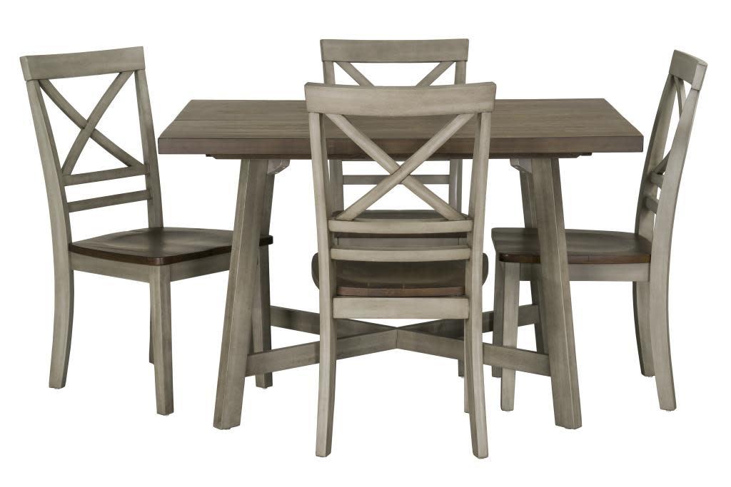 12862 DINETTE 5PC FAIRHAVEN GRAY - Tree House Furniture