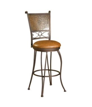 """POWELL 30"""" BRONZE AND COPPER CUSHIONED BARSTOOL"""