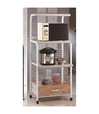 CROWNMARK MICROWAVE CART ON CASTERS WHITE
