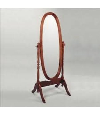 CROWNMARK CHEVAL OVAL MIRROR CHERRY