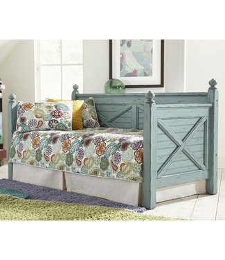 ELEMENTS WOODHAVEN TWIN DAYBED BLUE DISTRESSED